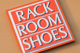 Rack Room Shoes sign - Vero Beach, Florida - Carver Mostardi Photography - Tampa commercial photography.