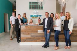 Group portrait of the team at Barkett Realty - St. Petersburg professional headshots - Carver Mostardi Photography.