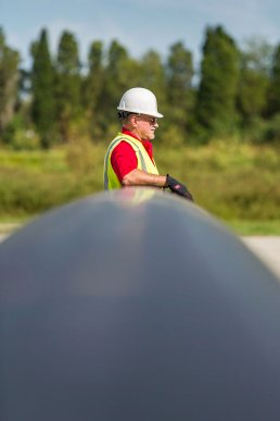 Loading pipes at the Wolseyley Industrial Group, Industrial photography Lakeland, Florida by Tampa based commercial photographer Carver Mostardi.
