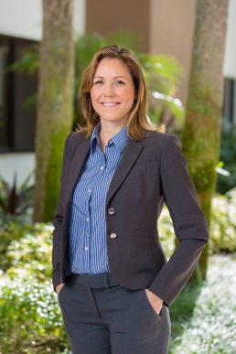 Outdoor environmental portrait of a female engineer from SCS Engineers in Boca Raton, Florida.