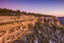 Dusk at the Cliff Palace ruins in Mesa Verde National Park, Colorado - photo by Tampa based commercial photographer Carver Mostardi Photography.