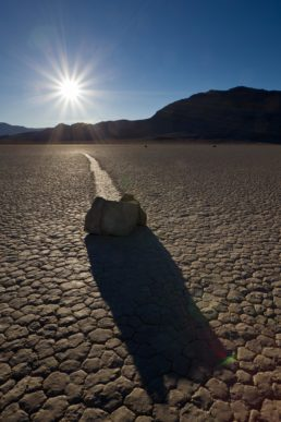 Sailing Stones, Death Valley.