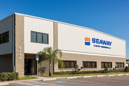 Exterior view of Seaway Plastics main facility in Port Richey, FL - Industrial Photography Tampa - Carver Mostardi Photography.