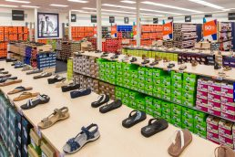 Sandal display at Rack Room Shoes - Vero Beach, Florida - Carver Mostardi Photography - Tampa commercial photography.