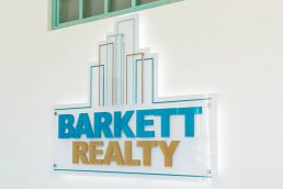 Interior sign at Barkett Realty - St. Petersburg professional headshots - Carver Mostardi Photography.