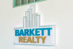 Interior sign at Barkett Realty - St. Petersburg professional headshots - Carver Mostardi Photography.