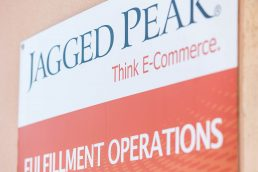 Jagged Peak sign at the fulfillment operations center in St. Petersburg, Florida - commercial photography St. Petersburg, FL - commercial photography Tampa - Carver Mostardi Photography.