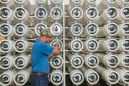Manufacturing and industrial photography at Saffron Water Technology in Tampa, Florida.