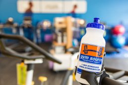 Commercial photography of Gym Source store interior, Wilmington, Delaware.