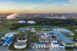 Tampa Aerial Photography by drone of Tampa Bay Water Facility